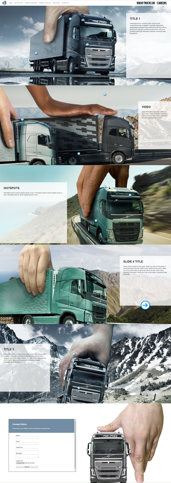 Volvo Concept Website