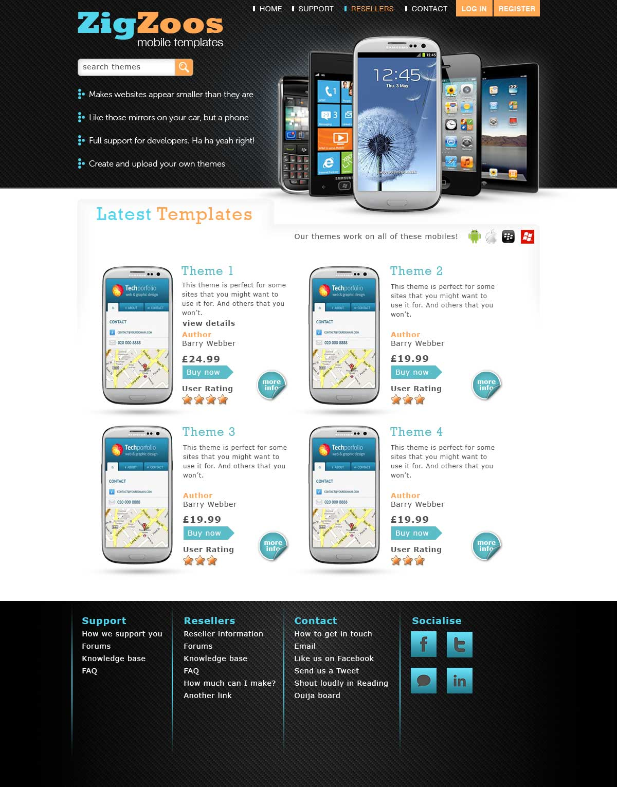 Mobile Templates Website Design