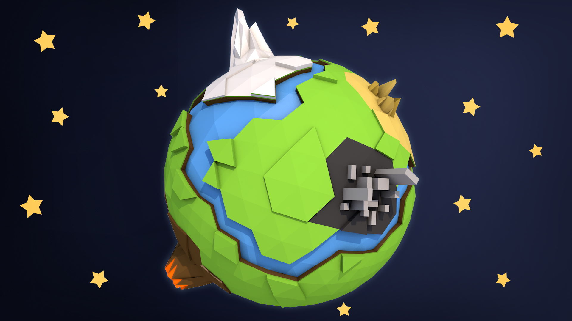 Low Poly 3D modelling