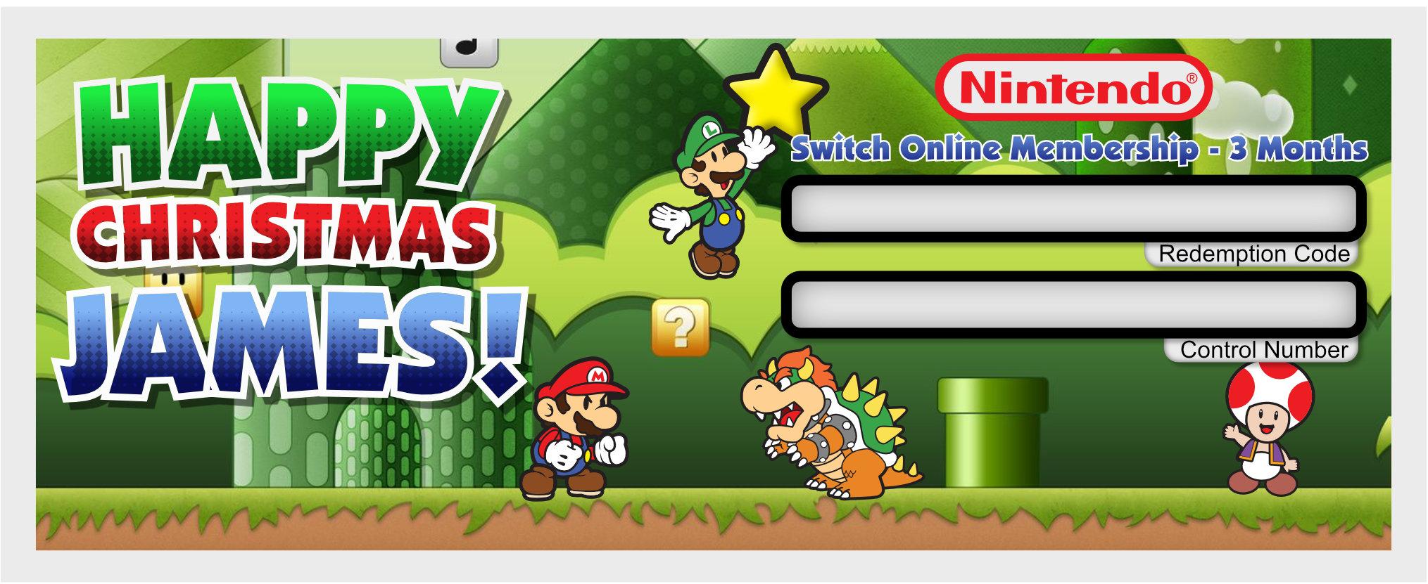 DIY Nintendo Vouchers